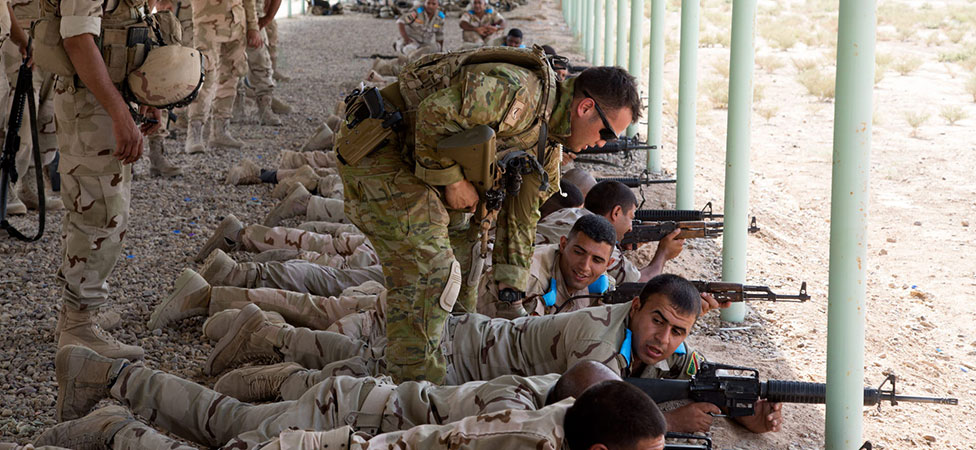 Training of soldiers in Iraq.