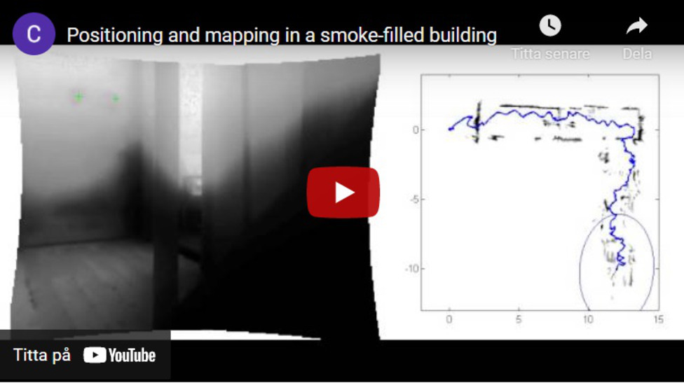 Positioning and mapping in a smoke-filled building
