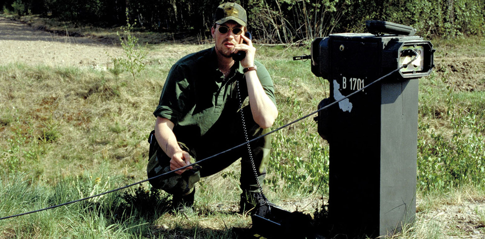 military communication outdoors