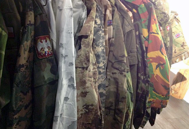 Camouflage clothes on line