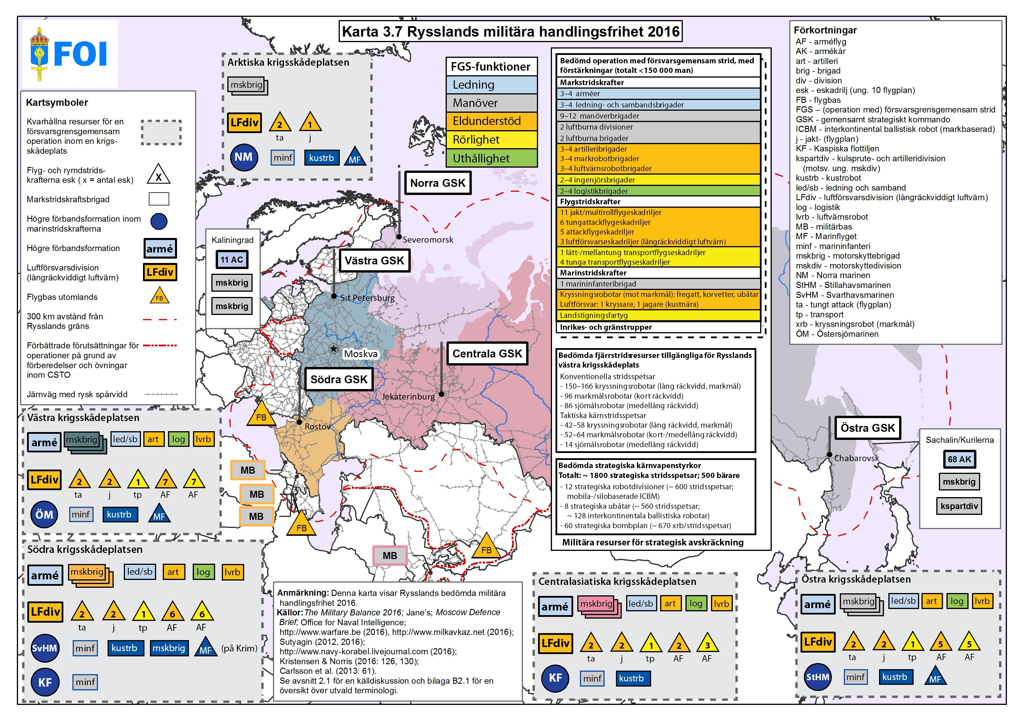 Karta Och Avstand.Kartor Totalforsvarets Forskningsinstitut Foi