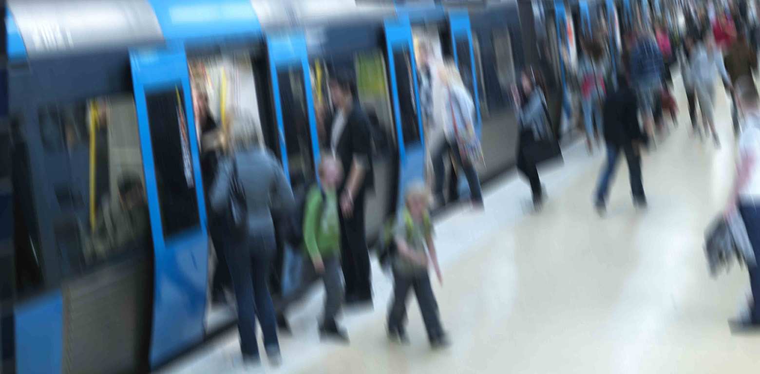 People in Stockholm metro