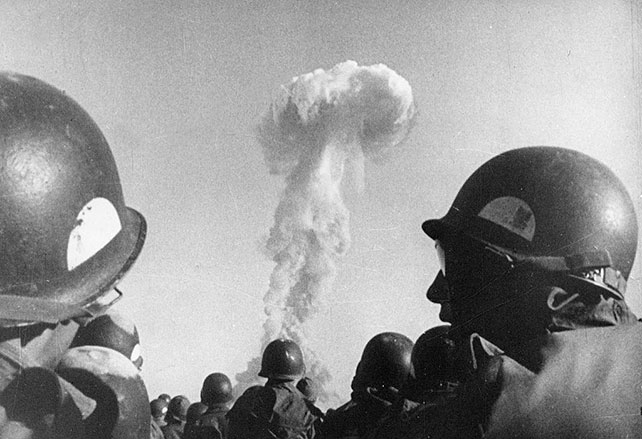 Soldiers with bombcloud
